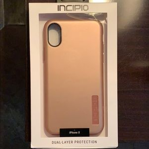 NWT Rose gold IPhone X case Dual-layer protection